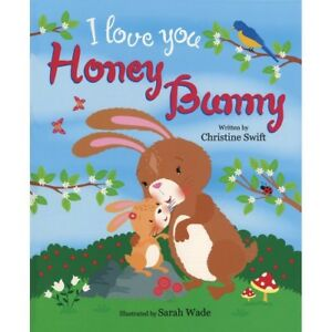 Large Childrens Bedtime Story I Love Honey Bunny Rabbit Picture Book Kids 2473