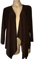 ROSARINI SIZE L CHOCOLATE BROWN  LAYERING CARDIGAN  AS NEW CURRENT STYLE