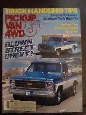 Pickup Van & 4WD Magazine July 1982 Blown Street Chevy (AR)