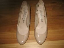 LADIES CUTE BROWN STILETTO HEEL COURT SHOES BY MARKS & SPENCER SIZE 6 AUS 7/7.5