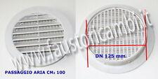 GRIGLIA AREAZIONE RETE PRESA ARIA CM 100 DIAMETRO 125 TUBO PVC LA VENTILAZIONE