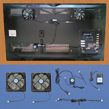 Plasma & LCD TV cooling fans, with USB-control & multispeed / vertical mount