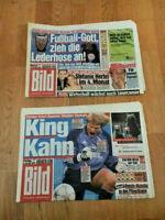 FC BAYERN CHAMPIONS-LEAGUE SIEGER 2001 FCB 2x BILDZEITUNG 23.5./25.5.2001