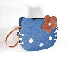 Vintage HEATHERETTE Hello Kitty Hand Shoulder Bag Purse DENIM Prototype Sample
