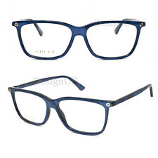 GUCCI GG0094O 010 Shiny Blue 54/14/140 Eyeglasses Rx Italy - New Authentic