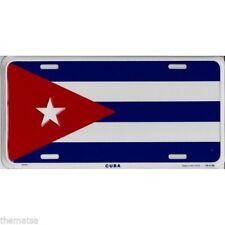 "Cuba Cuban Flag 6""x12"" Aluminum License Plate Tag (Made in USA)"