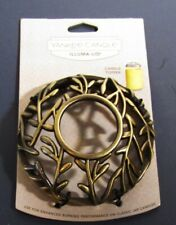 YANKEE CANDLE Bronze gold vines-branches ILLUMA-LID JAR CANDLE TOPPER NWT