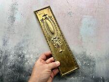 More details for antique antique brass door finger plate