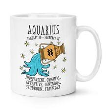 Aquarius oroscopo 10 OZ (ca. 283.49 g) Tazza-Oroscopo Segno Zodiacale Astrologia Zodiaco compleanno