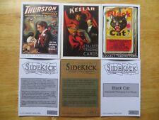 SIDEKICK 3 MAGIC PROMOS PHILLY CARD SHOW, THURSTON,KELLAR,BLACK CAT FIRECRACKERS
