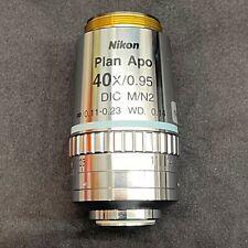 Nikon Plan Apo 40x095 11 23 014dic Mn2 Objective