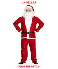 Hombre Traje De Santa Papá Noel Deluxe Disfraz Adulto Navidad Traje
