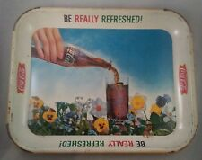 """Vintage 1961 Coca-Cola Tray""""Be Really Refreshed""""Advertising Advertisement Soda"""