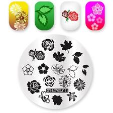 Nail Art Stamping Plates Image Plate Decoration Autumn Leaves Leaf Winter Flower