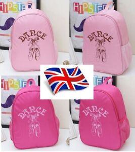 UK Stock Girls Kids Toddlers New Pretty Cute Ballet Dance Bag / Backpack