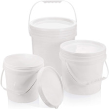 More details for 3 pieces plastic buckets multi-purpose storage buckets safe plastic buckets with
