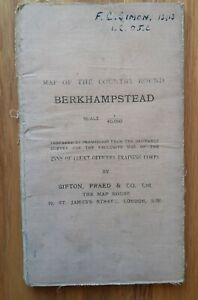 Map of the Country around Berkhampstead 1913