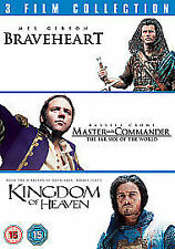 Braveheart / Master And Commander / Kingdom Of Heaven (DVD, 2011, 3-Disc Set)  H