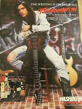 Extreme, Nuno Bettencourt, Washburn Guitars, Full Page Vintage Promotional Ad