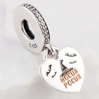 Authentic 925 Sterling Silver Hocus Pocus Dangle Charm Mixed Enamel &Clear CZ