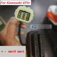 New 6 Pin 4needles OBDII OBD2 Diagnostic Cable Adapter For Kawasaki Motorcycle