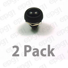 SPST (N/O) MOMENTARY ON BLACK PUSH BUTTON SWITCH 3AMPS @ 125VAC #PBS9-2PK