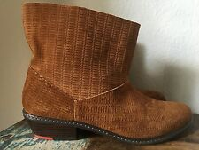 JOE'S Jeans Brown ANKLE BOOTS BOOTIES SUEDE WOMENS 9 Slip On
