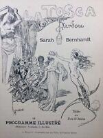 Sarah Bernhardt La Tosca 1898 Willette Victorien Sardou Nouveau Cirque Clown