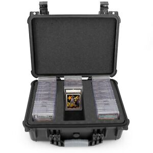 CM Graded Card Case Storage Box FITS 80+ PSA BGS Sports Trading Cards Waterproof