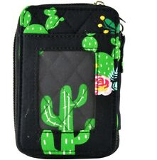 Cactus Garden Quilted Wristlet for Women Keep all of your valuables in