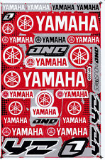 YAMAHA Vinyl Decal Sticker Red Silver Motorcycle Bike Racing New Free Shipping