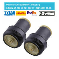 Pair Rear Air Suspension Spring Bag Struts fit BMW X5 E70 X6 E71 E72 37126790080