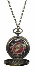 and Out Pocket Watch Pendant The Flash Lightning Bolt Inside