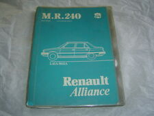 Renault Alliance MR240 L42A M42A mechanical service repair workshop shop manual