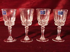 "4 Vintage ""Cordial"" Lady Victoria Crystal Stemware, Chantelle Pattern, France"