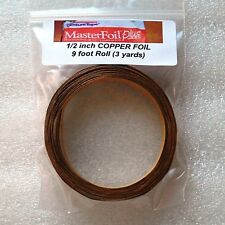 (9 foot roll) 3 yards of 1/2 inch COPPER FOIL Tape Adhesive Backed ~VENTURE