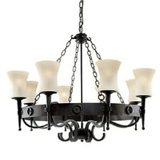 SEARCHLIGHT 8-LIGHT CARTWHEEL CLASSICAL STYLE CEILING FITTING 0818-8BK