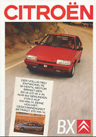 Citroën BX Prospekt 1987 7/87 Citroen Autoprospekt Broschüre brochure broschyr