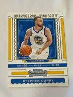 2019-20 Panini Contenders Basketball Winning Ticket Stephen Curry