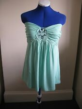 B HOT OPTIONS TOP STRAPLESS SLEEVELESS SIZE 12 SKY BLUE LIGHT SUMMER HOLIDAYS