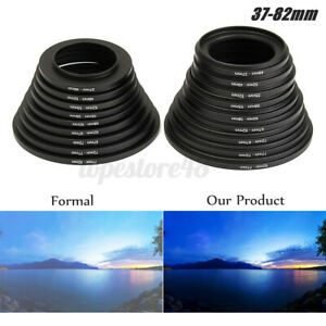 18X Step Up Down 37-82mm Rings Filter Lens Adapter Camera Stepping Metal  a