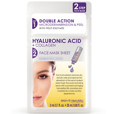 Skin Republic 25ml + 3ml Hyaluronic Acid + Collagen 2 STEP Face Mask Sheet Serum