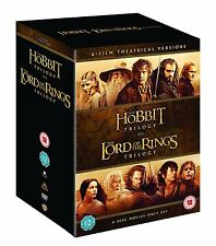 ❏ Middle Earth Collection DVD Set Lord of the Rings Trilogy + Hobbit Trilogy ❏
