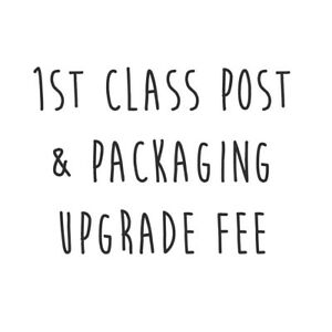 First Class Postage & Packaging Cost or Upgrade for Glitterati Orders