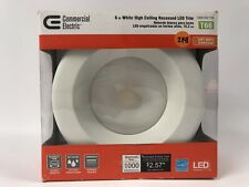 """Commercial Electric LED Retrofit 6"""" inch Can Light/Recessed Trim New"""