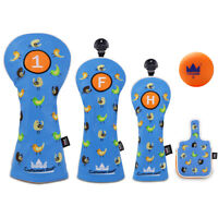 Golf Headcovers Driver Woods Fairway Rescue for Taylormade CALLAWAY XR Bule New