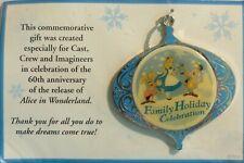 DISNEY CHRISTMAS ORNAMENT 2011 FAMILY HOLIDAY CELEBRATION ALICE & MAD HATTER