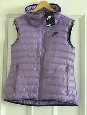 Womens NIKE 550 fill down Lightweight Gilet Size Small 805257-501