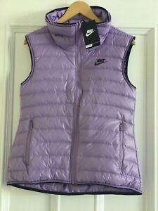 Womens NIKE 550 fill down Lightweight Gilet Size Small 805257-501 **