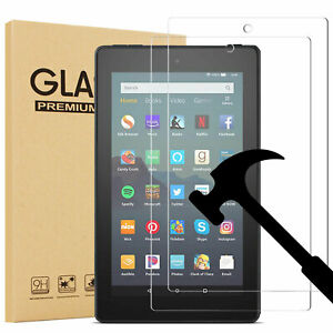 2 Pack Tempered Glass Screen Protector For All-New Fire 7 / Fire 7 Kids Edition